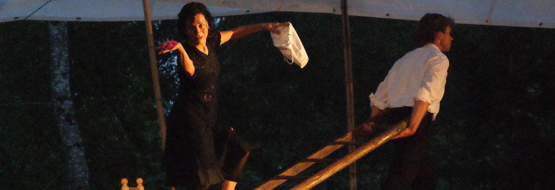 Pilar auf der Leiter