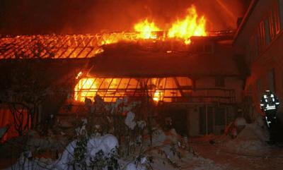 Am 28. November 2010 brannte die Kulturscheune bis auf die Grundmauern nieder